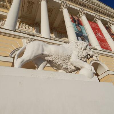Löwe vor dem Russischen Museum