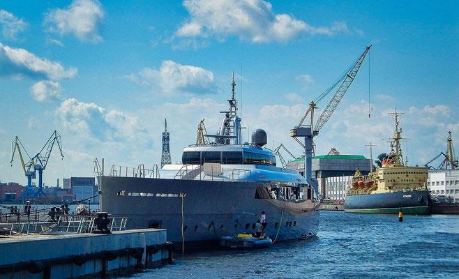 Anlegestelle in Sankt Petersburg