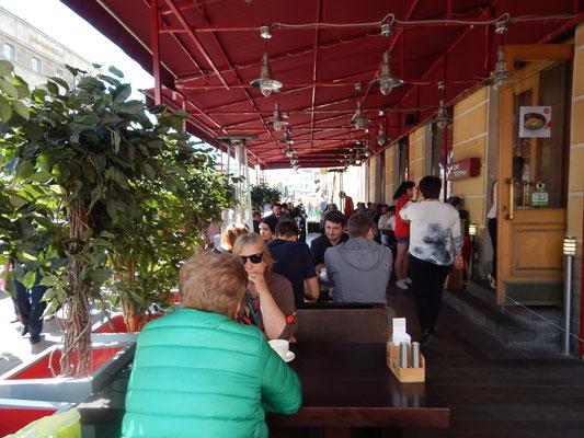 Außenbereich des Restaurants