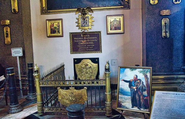 Grabstätte des Feldherren Michael Illiarionowitsch Kutusow in der Kasaner Kathedrale
