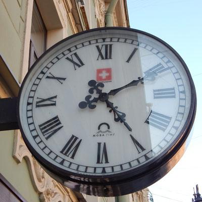 Schweizer Uhr in Petersburg
