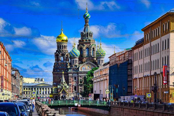 Blutskirche im Zentrum Sankt Petersburgs