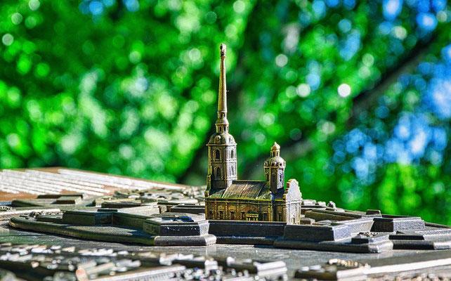 die Kathedrale der Festung in klein