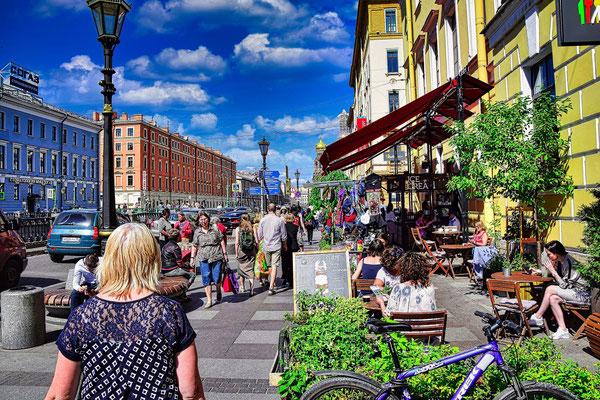 Zentrum Sankt Petersburg bei einer Fotopause