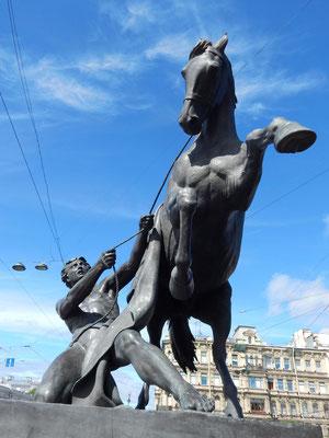 Pferdebrücke in Sankt Petersburg