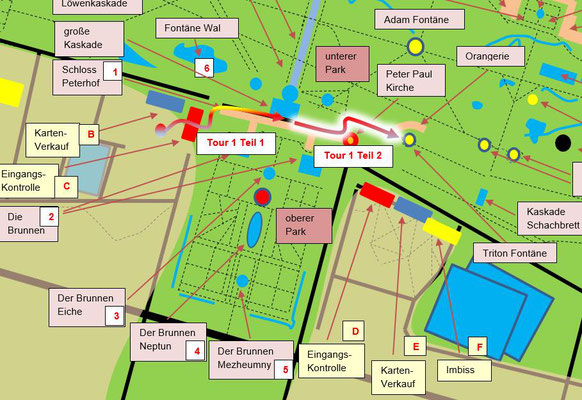 Schema Peterhofer Park Teilstrecke 2