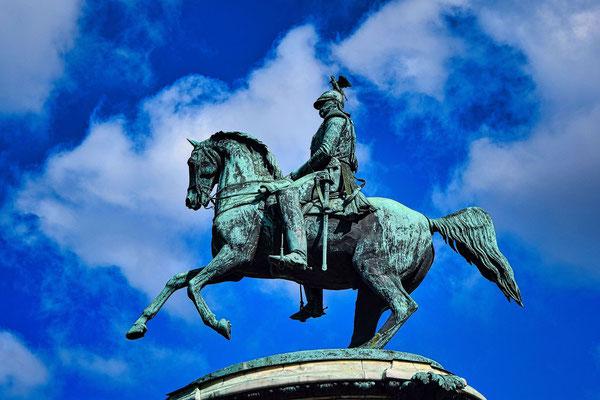 Reiterfigur an Alexander II.