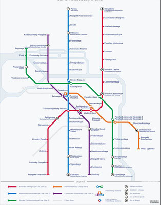 Metro Karte Schema Sankt Petersburg