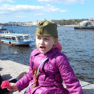 Besucher St. Petersburgs