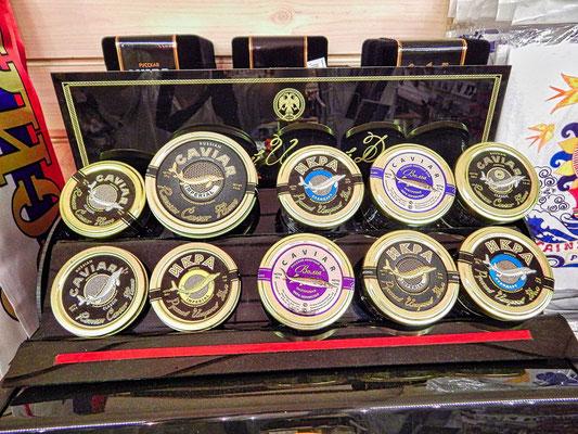 Auswahl an Caviar