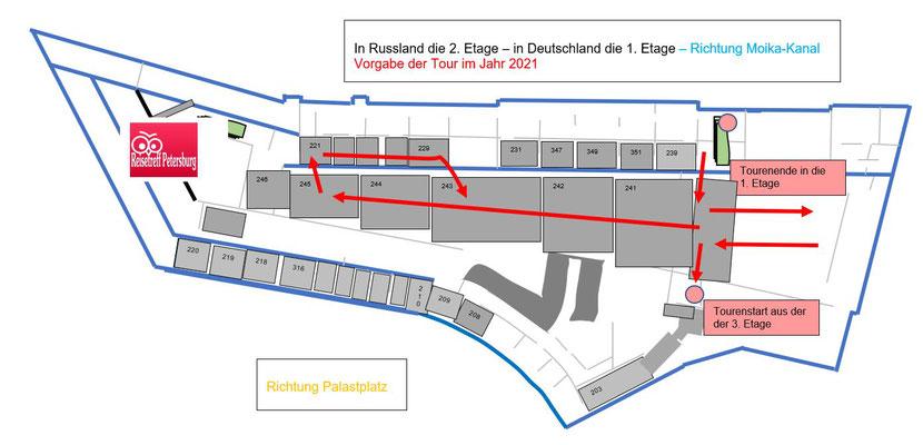 Tour ab 2021 Generalstabsgebäude 2 . Etage
