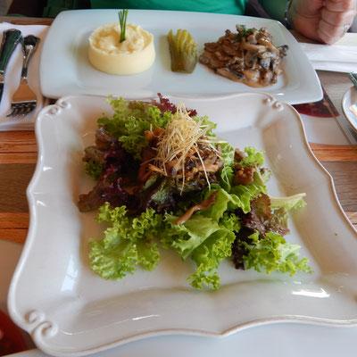 Salat im Restaurant