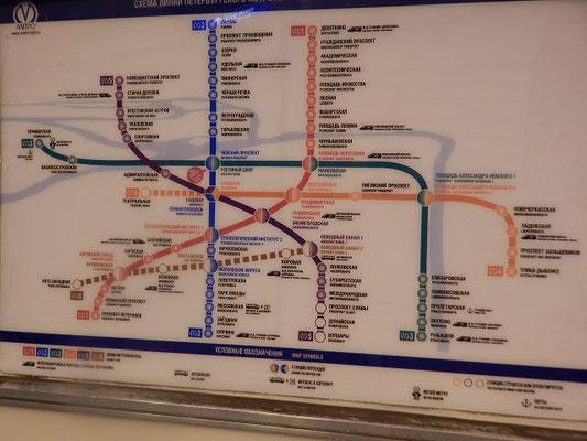 Plan der Metro