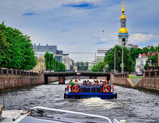 Kanalfahrt Bootsfahrt