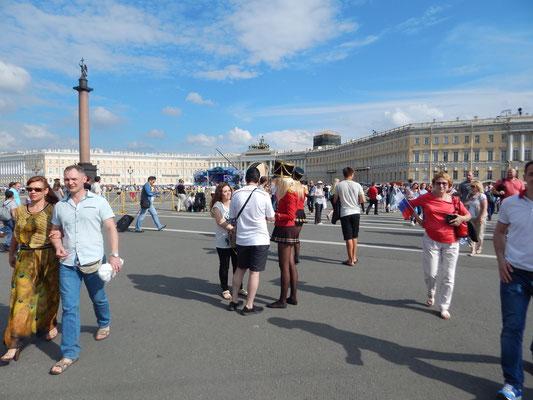 Auf dem Palastplatz