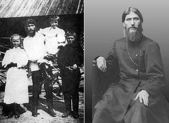 Foto von Rasputin mit Familie. Stadtführung in Sankt Petersburg.        k