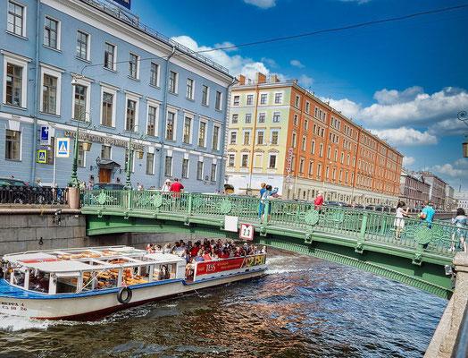 Kanalfahrt in St Petersburg