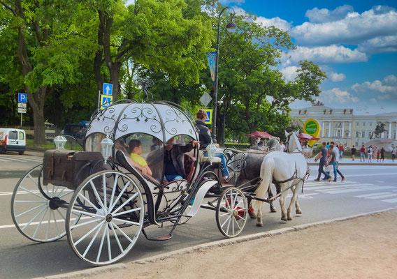 Pferdekutsche in St Petersburg