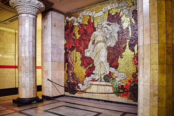 Wandbild in der Metrostation