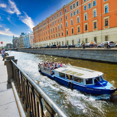 Bootsfahrt in St. Petersburg - hier der Gribojedow Kanal 2021