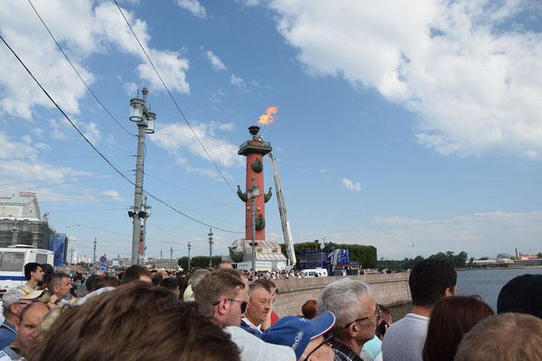 Leuchtturm am Feiertag