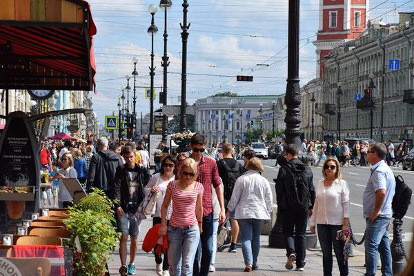 Newski Prospekt - wir waren individuell in St. Petersburg