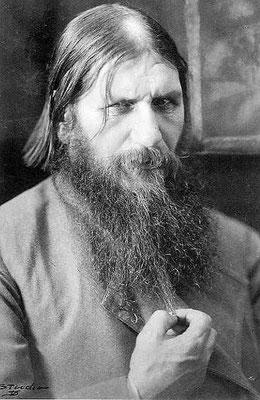 Foto von Rasputin in Sankt Petersburg.     k