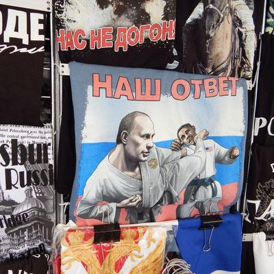 Plakat bei einer St. Petersburg Führung
