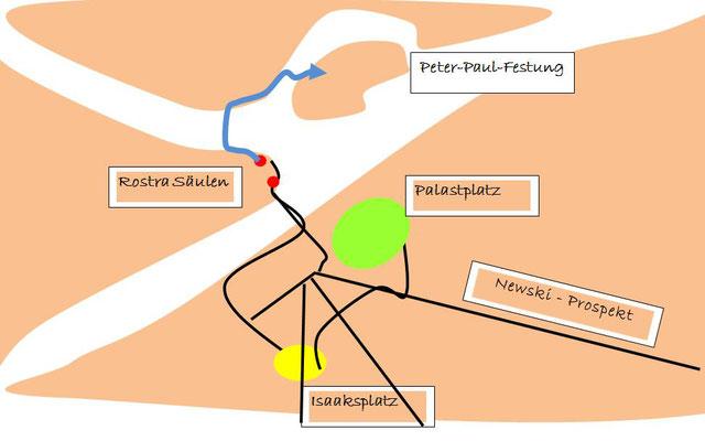 Peter Paul Festung Karte