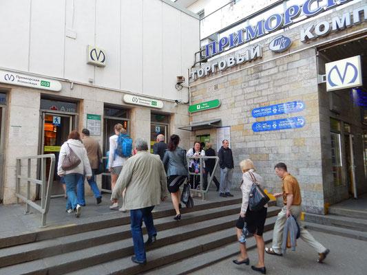 Eingang Metrostation Primorskaya