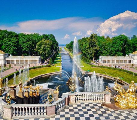 Peterhofer Park Blick auf den unteren Park Ihr Landausflug