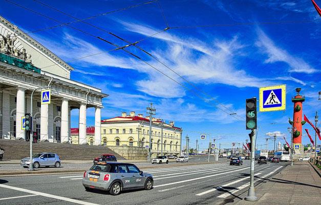 die alte Börse in St Petersburg