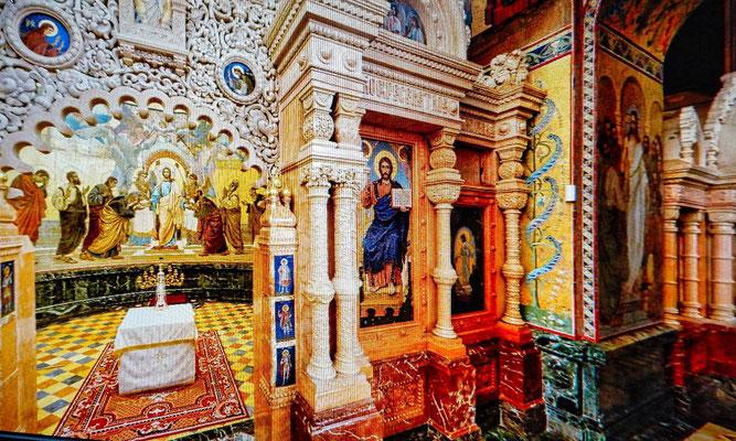 Blutkirche Innenansicht          St. Petersburg Sehenswürdigkeiten