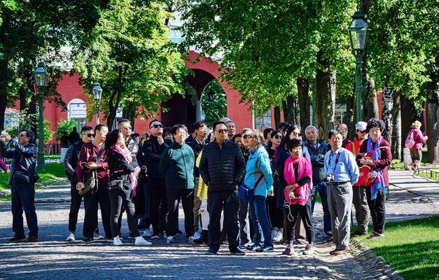 Reisegruppe mit Gästen auch China