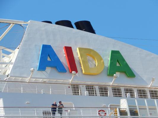 die AIDA in Sankt Petersburg