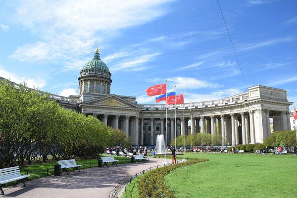 die Kasaner Kathedrale in Sankt Petersburg