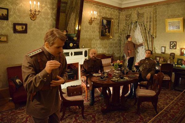 Gruppe der Verschwörer beim Mord an Rasputin