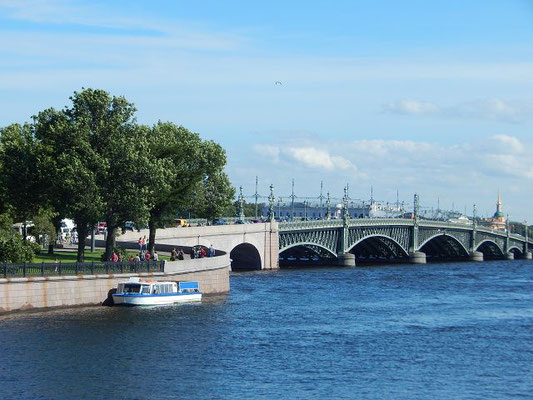 Die Newa in St. Petersburg Blick von der Haseninsel