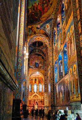 Blutskirche Innenansicht aus Mosaiken