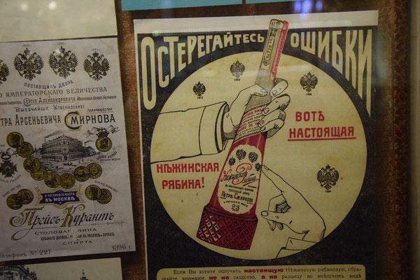 Werbepalkat für Wodka