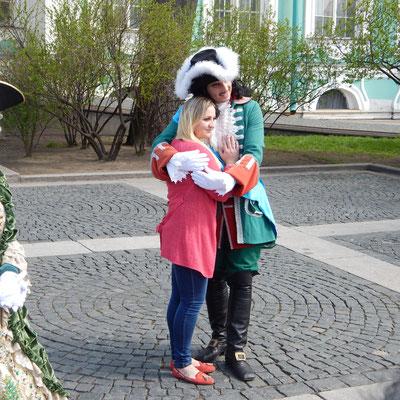 Pupe mit Reisegast