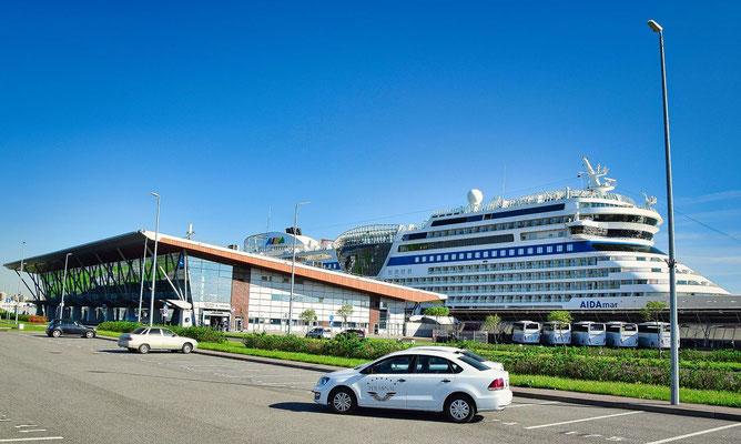 AIDA im Hafen von Sankt Petersburg