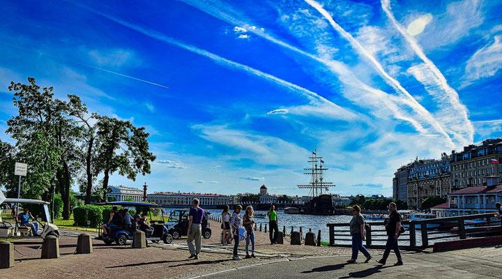 Blick von der Peter Paul Festung zum fliegenden Holländer