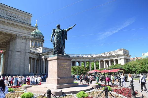 Denkmal an Kutusow vor der Kasaner Kathedrale