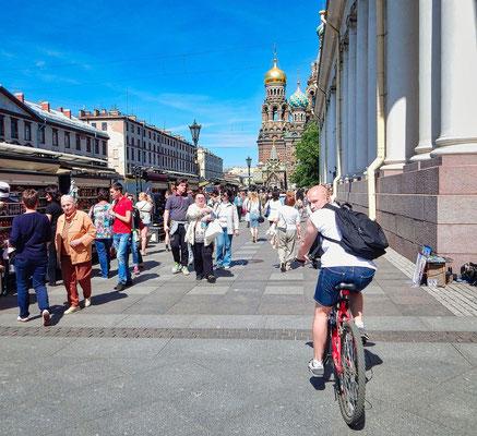 Wir empfehlen unseren Gästen, keine Fahrradtour durch das Zentrum der Stadt.