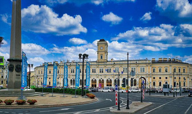 Moskauer Bahnhof in St Petersburg
