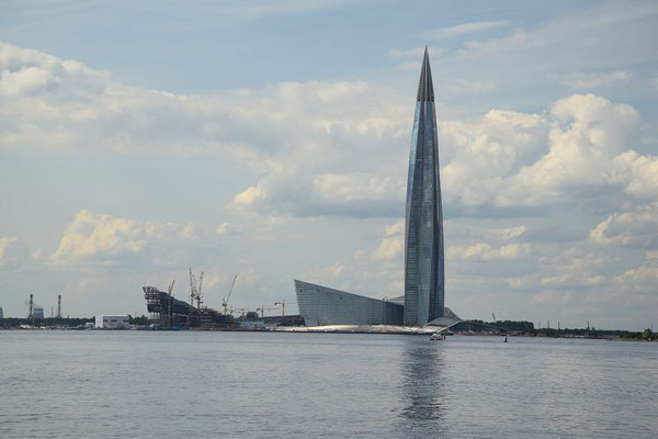 vorbei am Gasprom-Tower