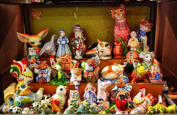 Porzellanfiguren in St Petersburg