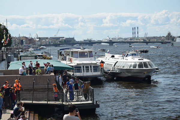 Anlegestelle für Tragflächenboote