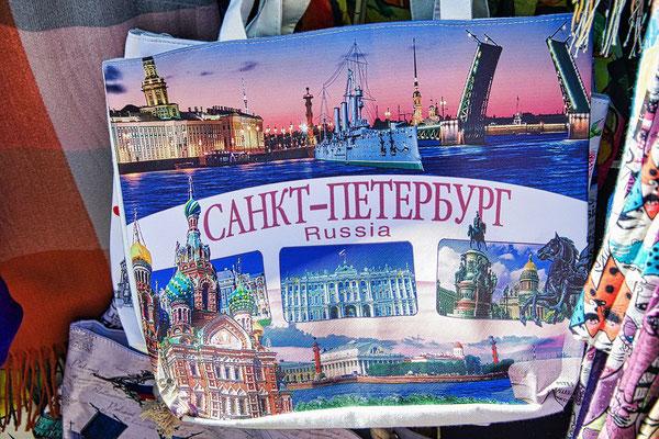 Stofftasche mit Motiv aus Sankt Petersburg